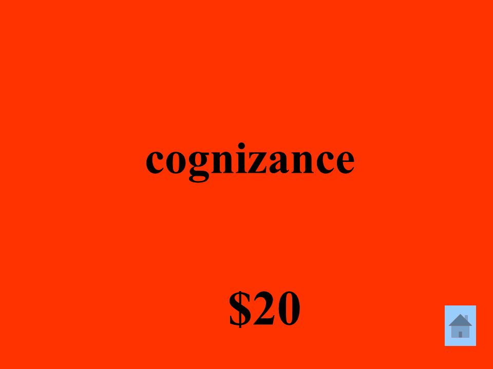 cognizance $20