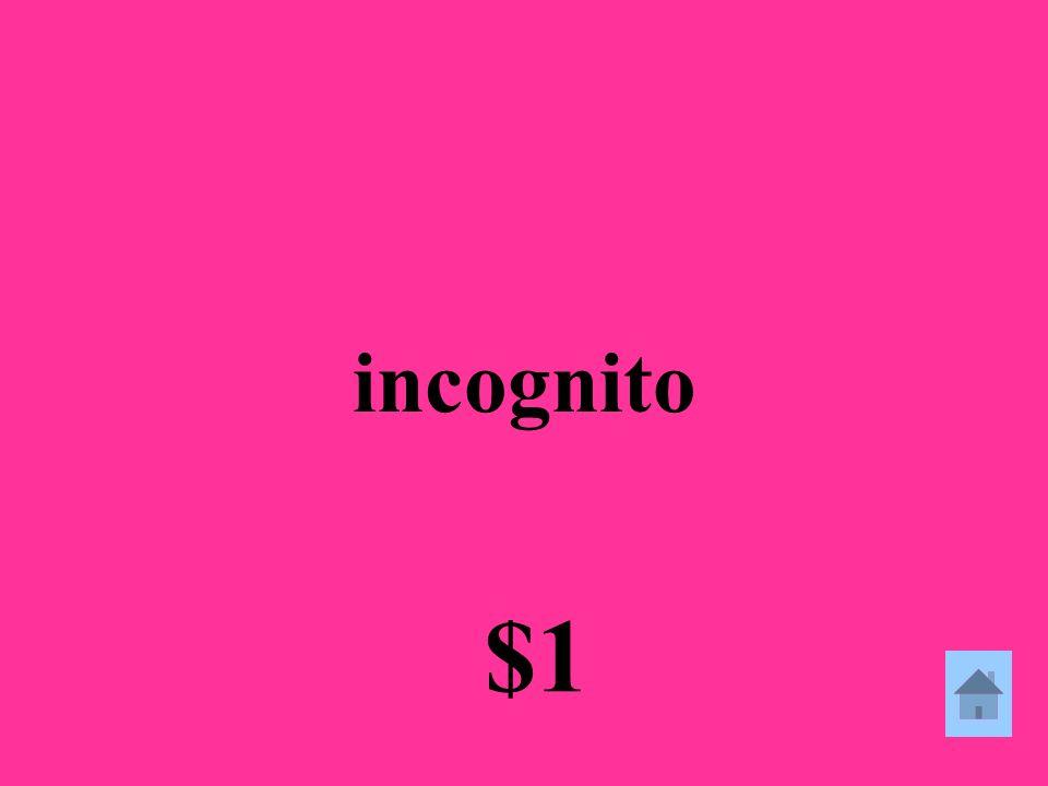 incognito $1