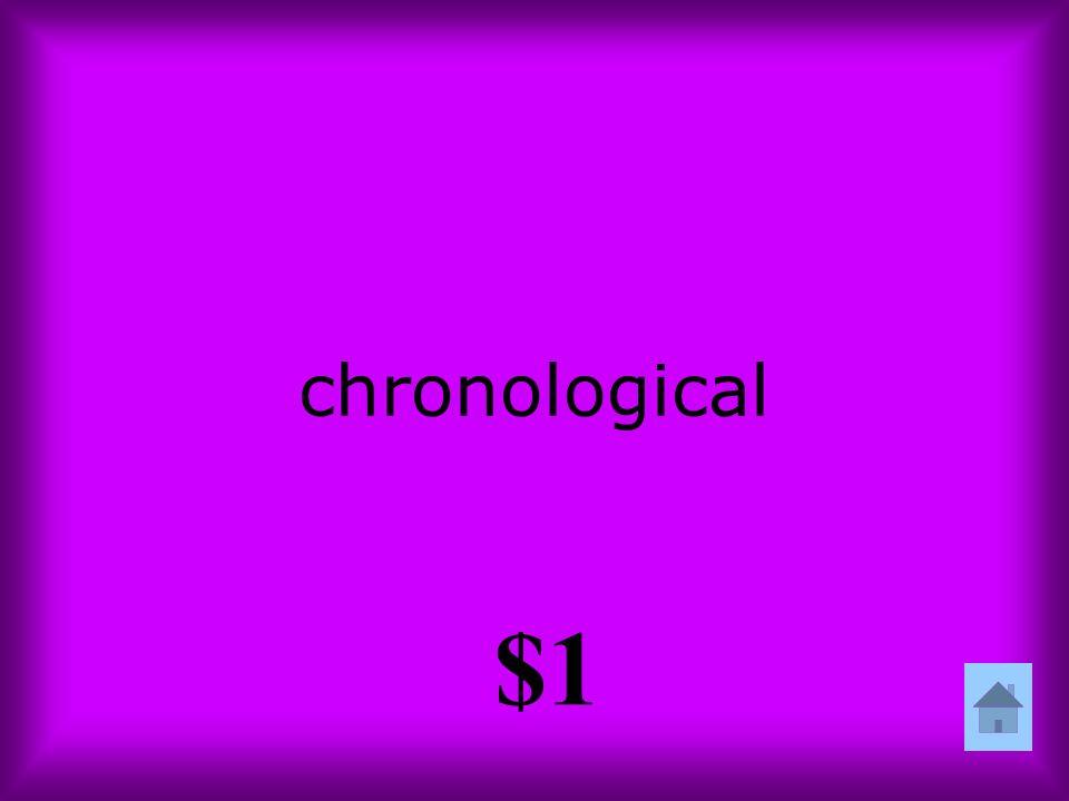 chronological $1