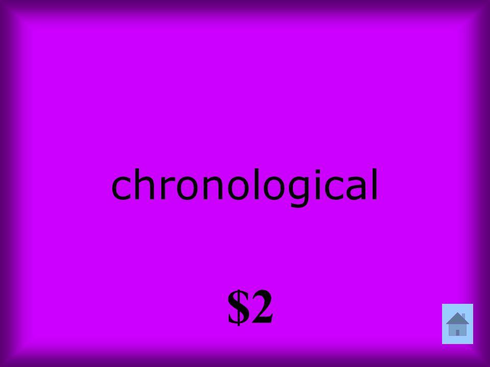 chronological $2