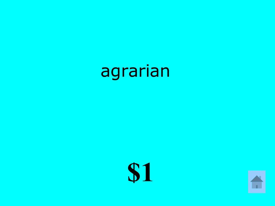 agrarian $1