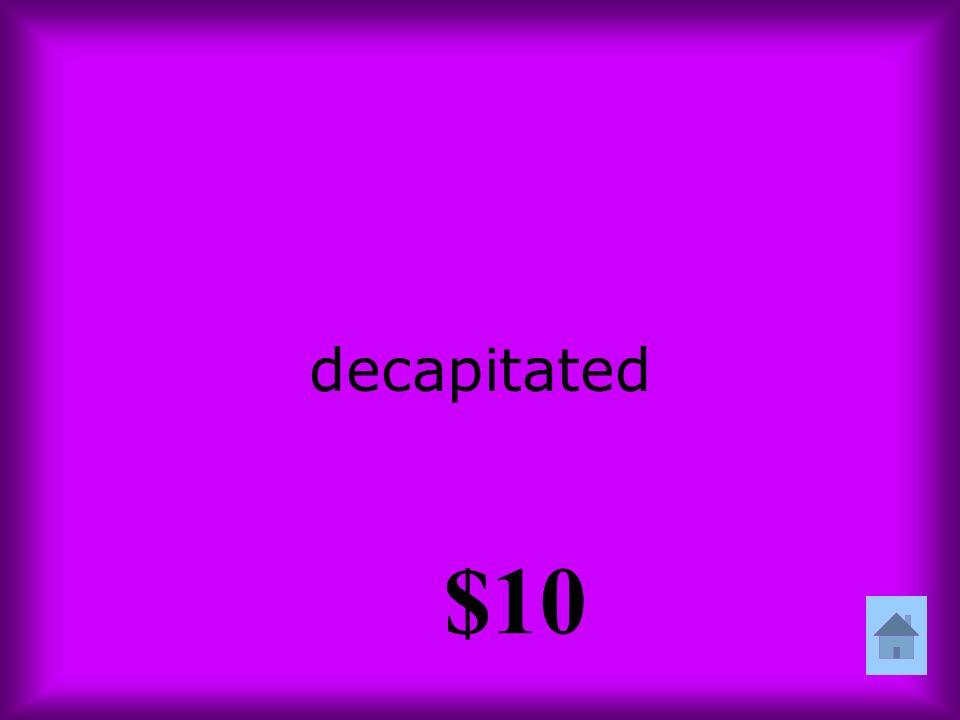 decapitated $10