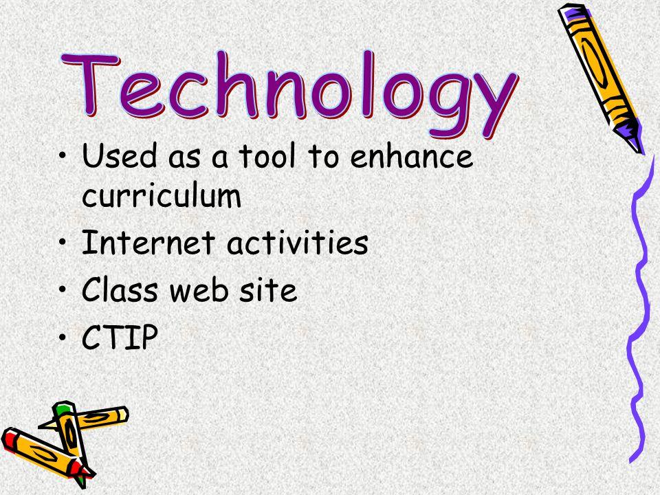 Used as a tool to enhance curriculum Internet activities Class web site CTIP