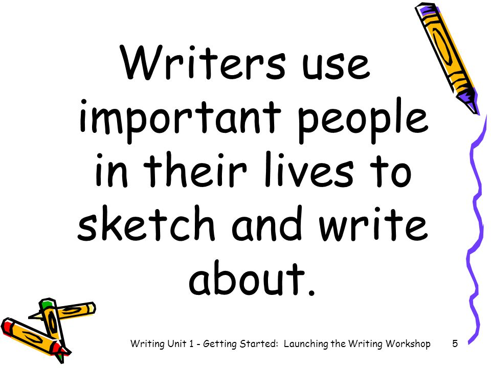 How to talk with a writing partner Writing Unit 1 - Getting Started: Launching the Writing Workshop6