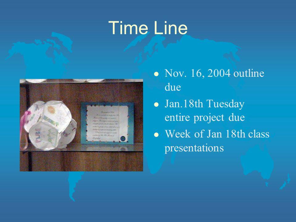 Time Line l Nov.