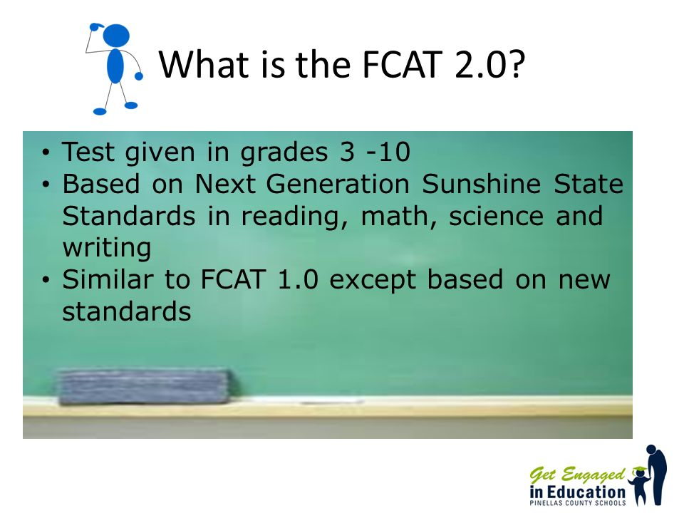 What topics are tested on the Mathematics FCAT 2.0.
