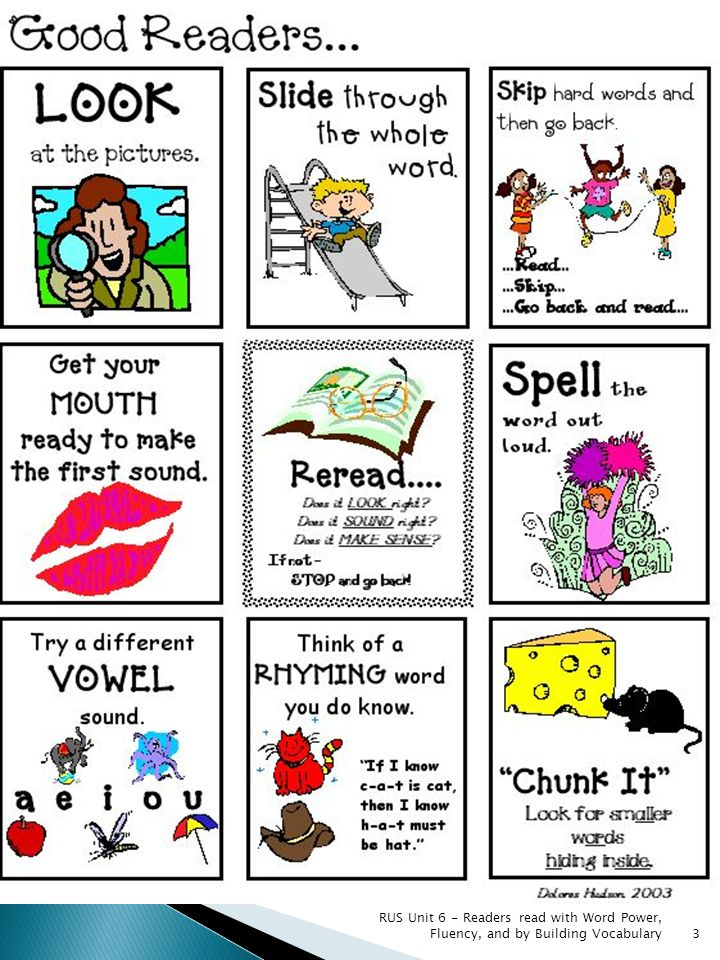 RUS Unit 6 - Readers read with Word Power, Fluency, and by Building Vocabulary 14