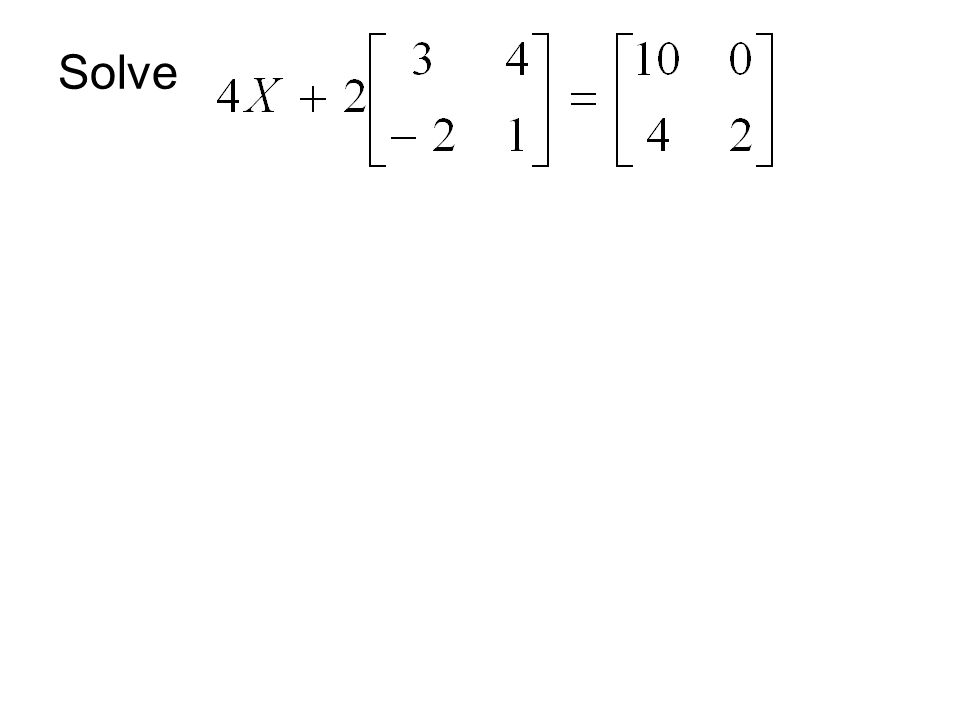 Matrix Multiplication Multiplication is only possible if the number of columns in the first matrix is equal to the number of rows in the second matrix.