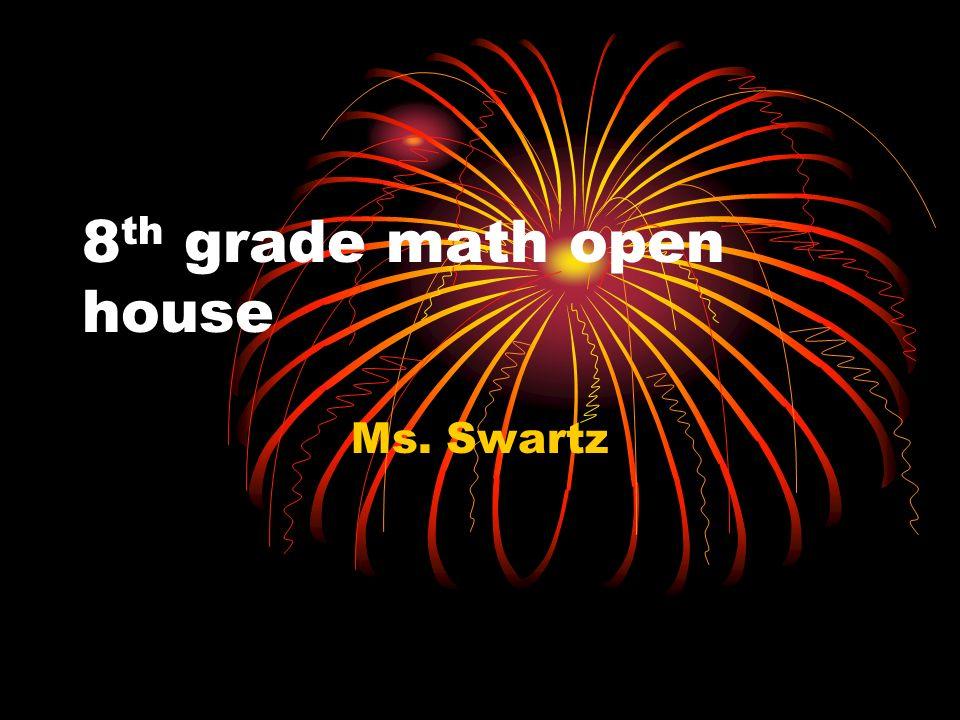 8 th grade math open house Ms. Swartz