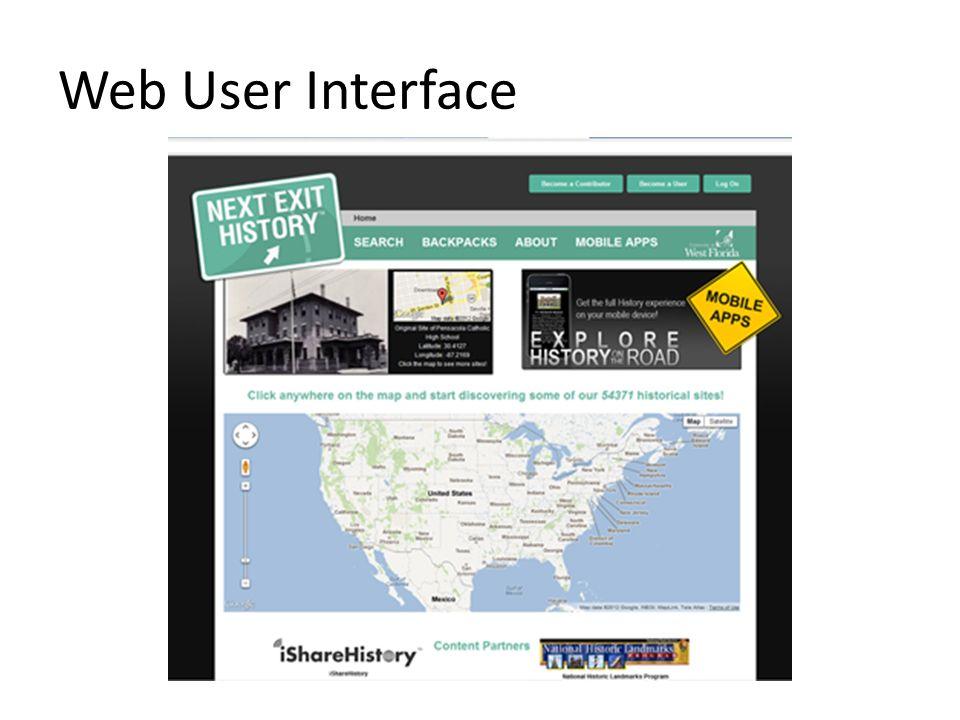 Web User Interface
