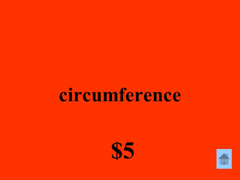 circumference $5