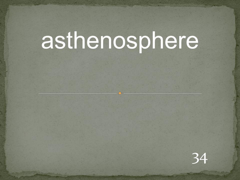 34 asthenosphere