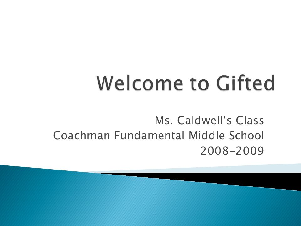 Ms. Caldwells Class Coachman Fundamental Middle School 2008-2009