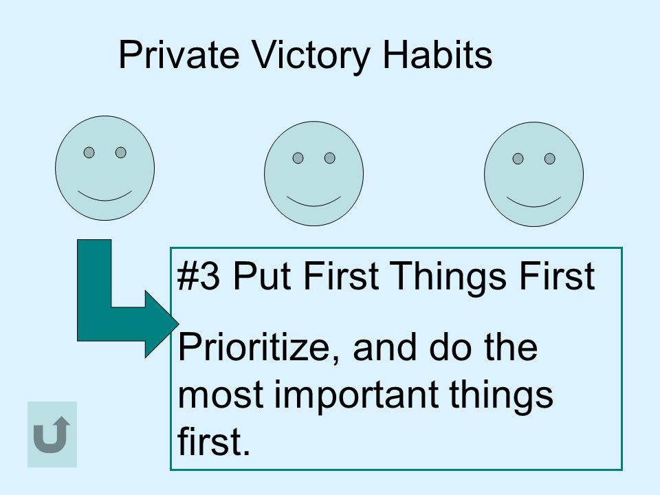 Public Victory Habits These are habits that deal with relationships and teamwork.