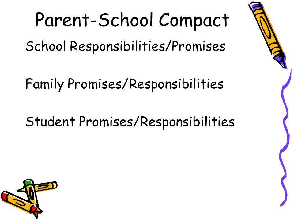 Parent-School Compact School Responsibilities/Promises Family Promises/Responsibilities Student Promises/Responsibilities