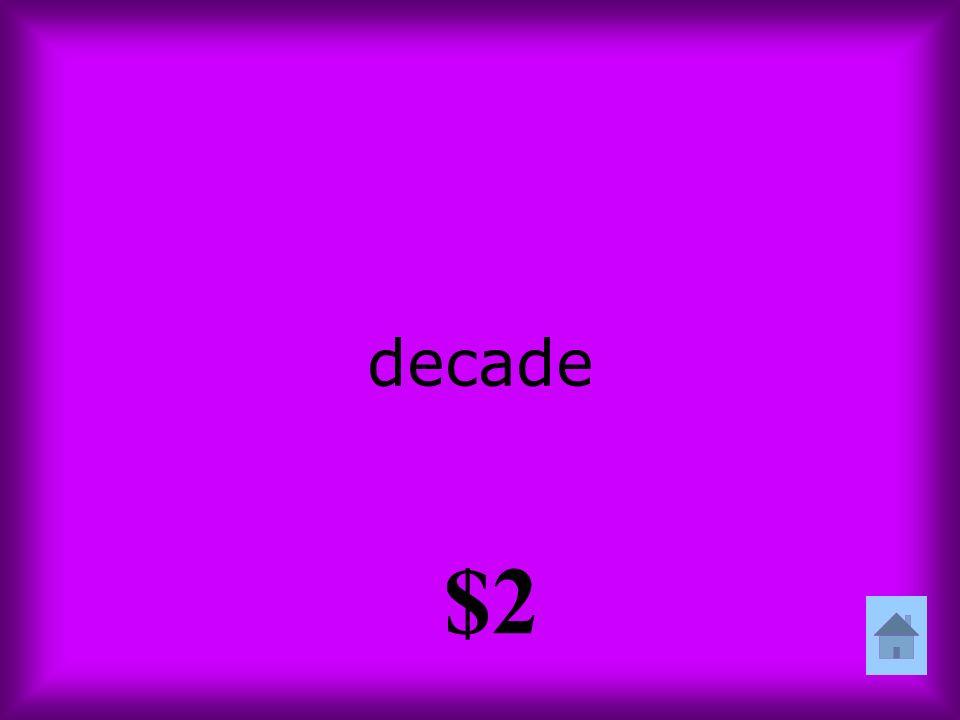 decade $2