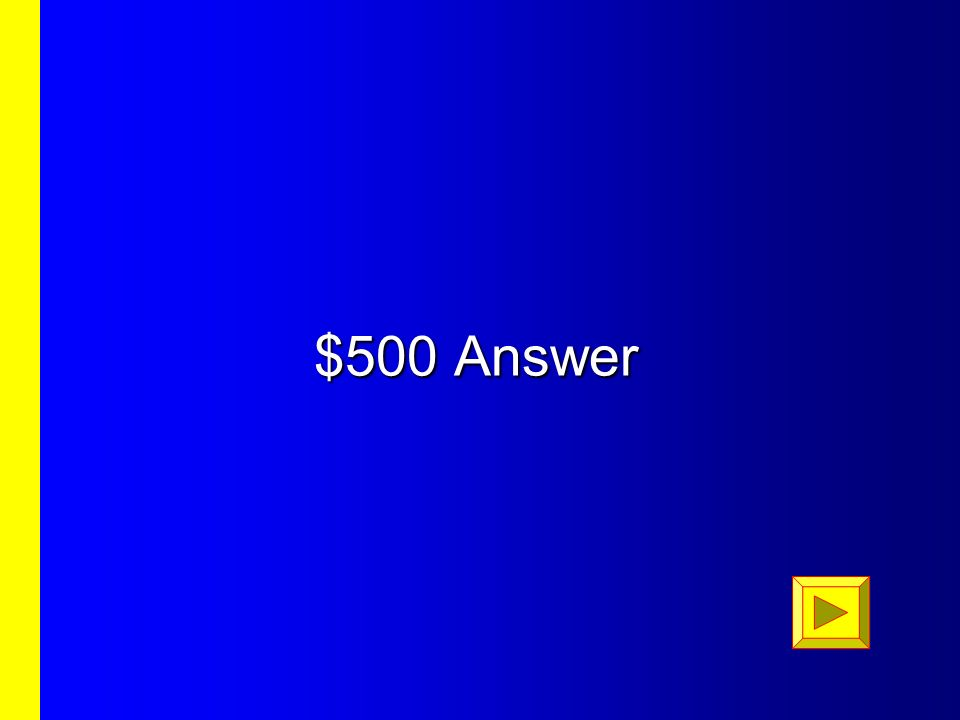 $400 Question $400