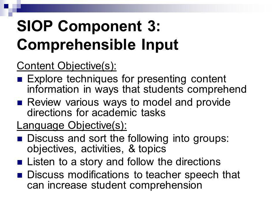 Do I include opportunities for students to read, write, listen, and speak.