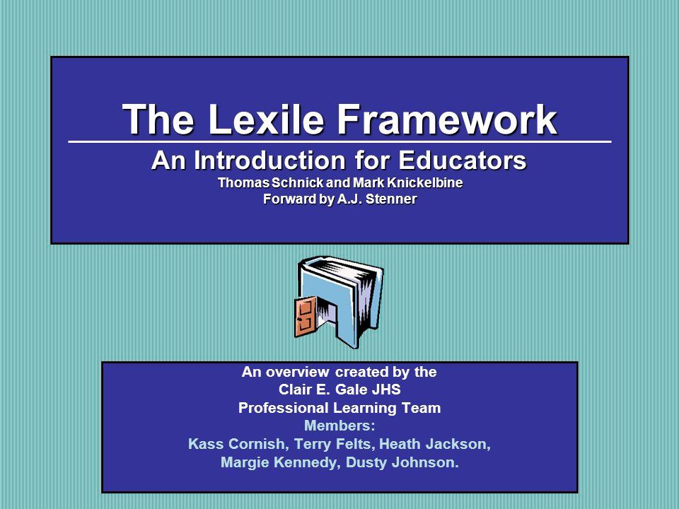 Chapter 4: Why Lexiles Work Table of Contents Next I.Introduction: An absolute scale for reading ability is needed to successfully match students reading skills to difficulty of text and to track the growth of students comprehension abilities.