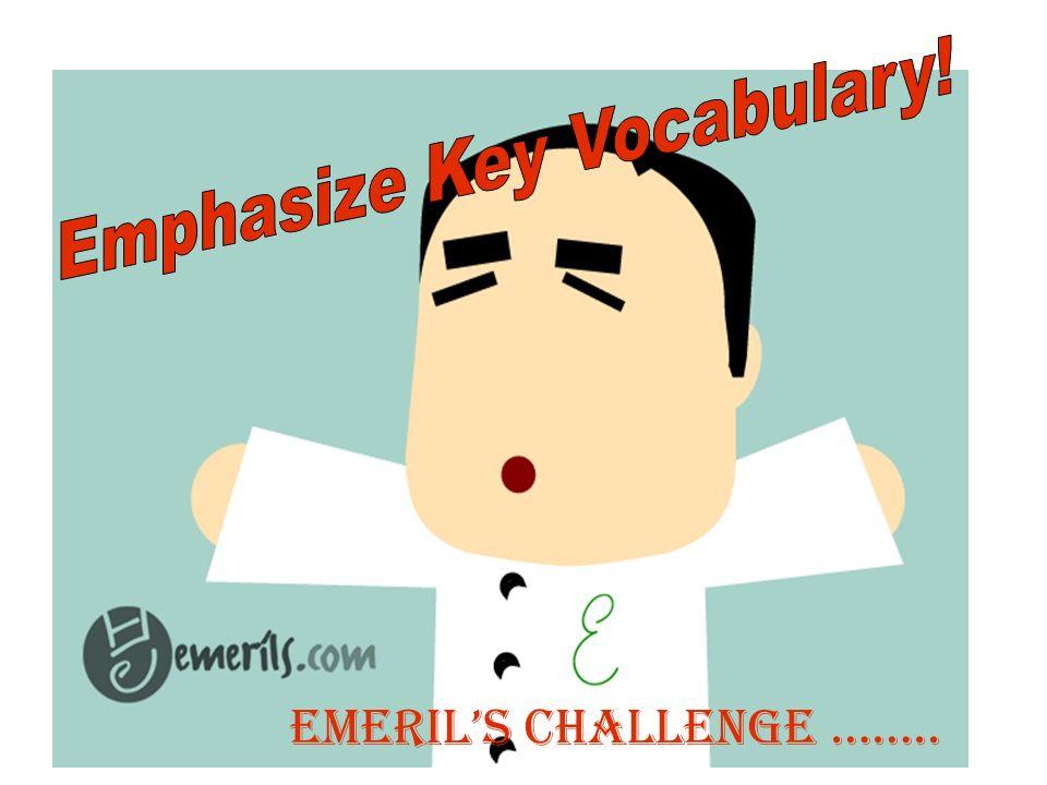 Emerils Challenge ……..