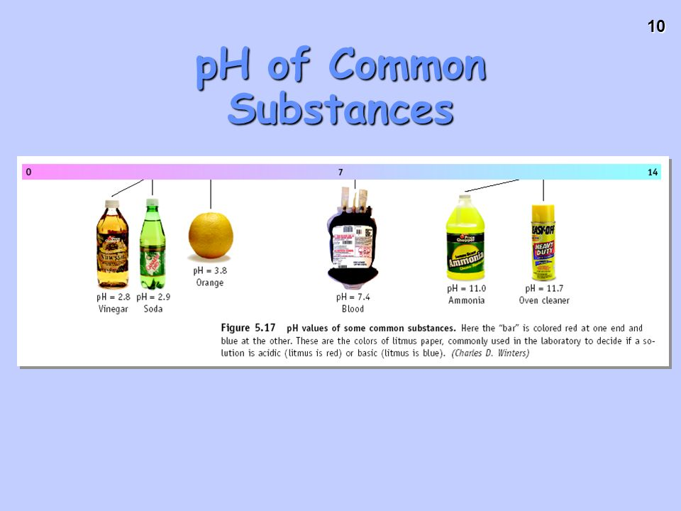 10 pH of Common Substances