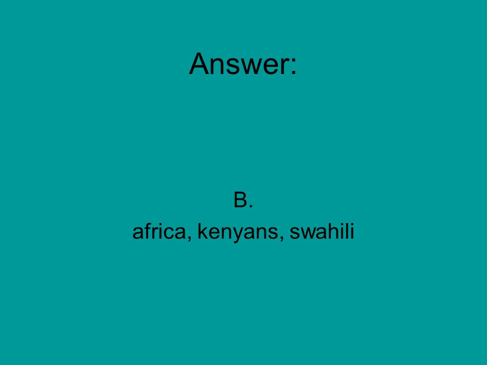 Capitalization--Capitalize Proper Nouns and Adjectives--RIT 211-220 On the continent of africa many kenyans speak swahili.