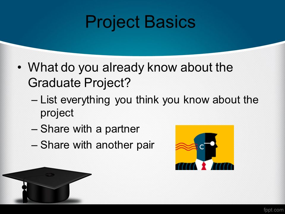 Project Basics What do you already know about the Graduate Project.