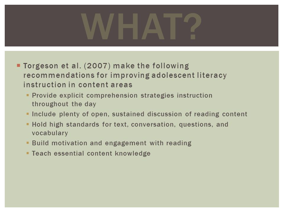 Informational Text Structure Information texts use a limited number of organizational structures, including description, compare-contrast, cause- effect, problem/solution, and time order See Information Text Structures and Signal Words chart on page 683 WHAT?