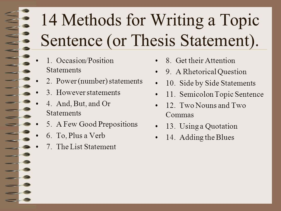 topic and thesis statement examples
