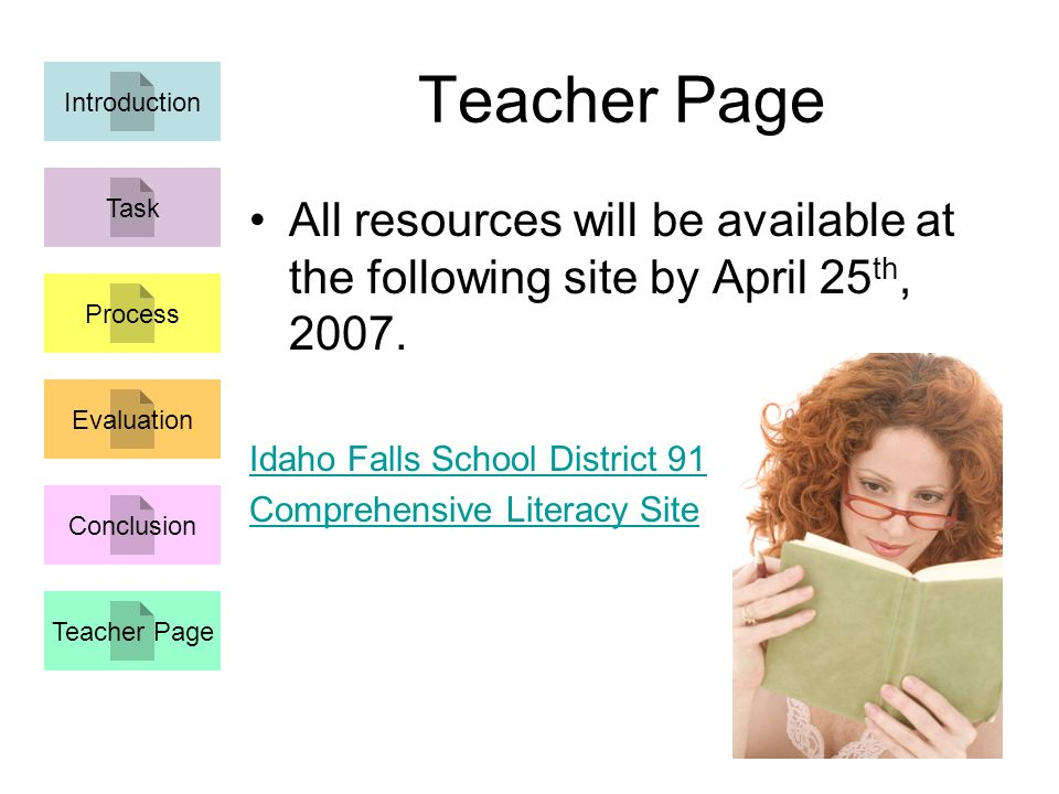 All resources will be available at the following site by April 25 th, 2007.