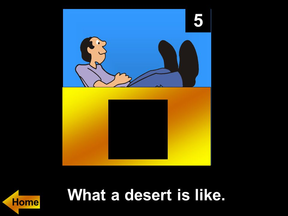 5 What a desert is like.