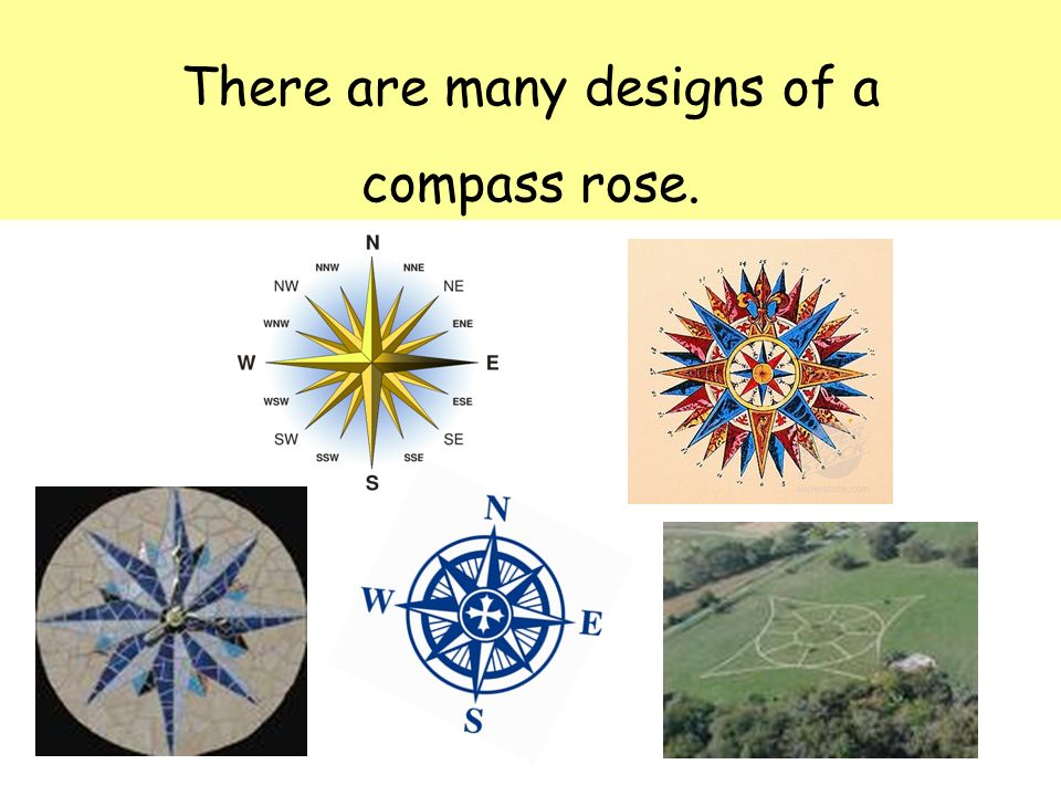 There are many designs of a compass rose.