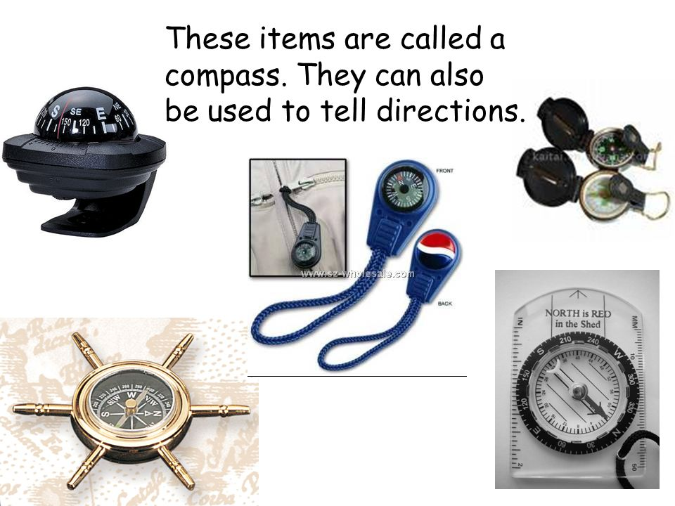 These items are called a compass. They can also be used to tell directions.