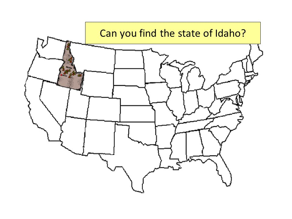 Can you find the state of Idaho?