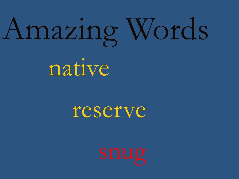 Amazing Words desert world surf forest