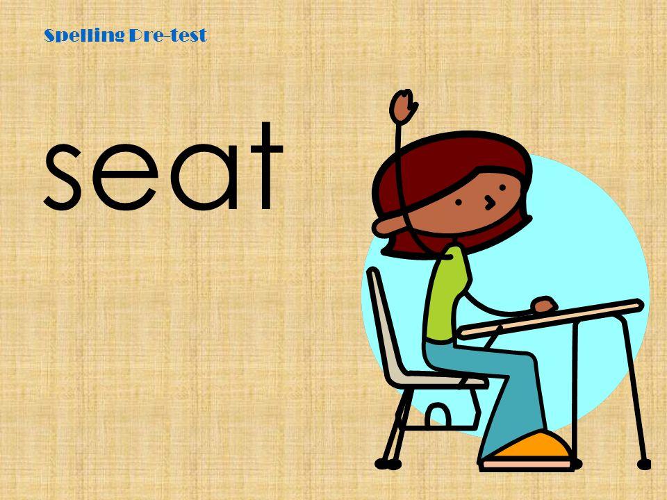 Spelling Pre-test deep