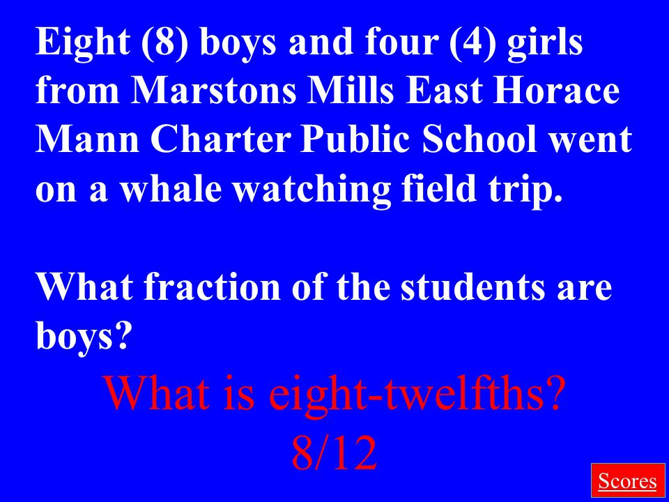 Final Jeopardy Category: Figure Out What the Fraction Is!