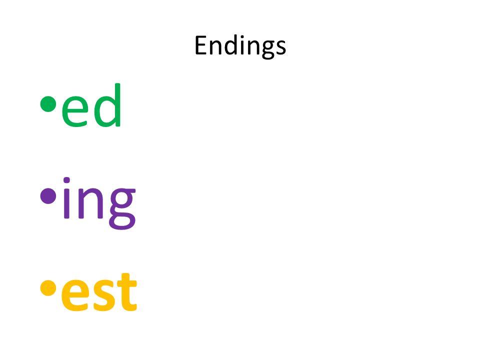 Endings ed ing est