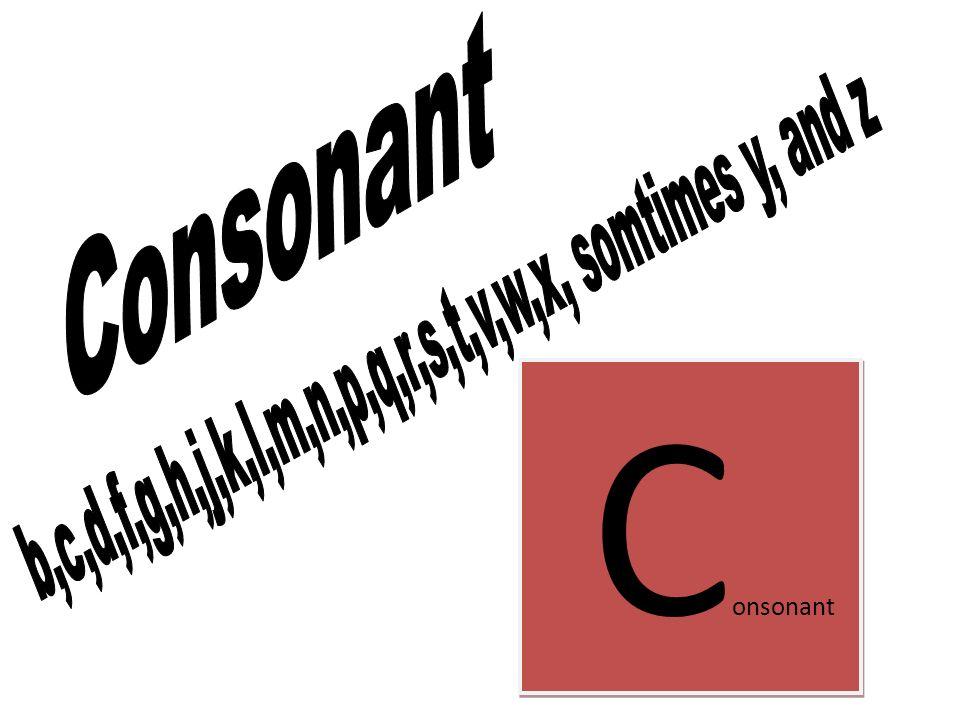 C onsonant