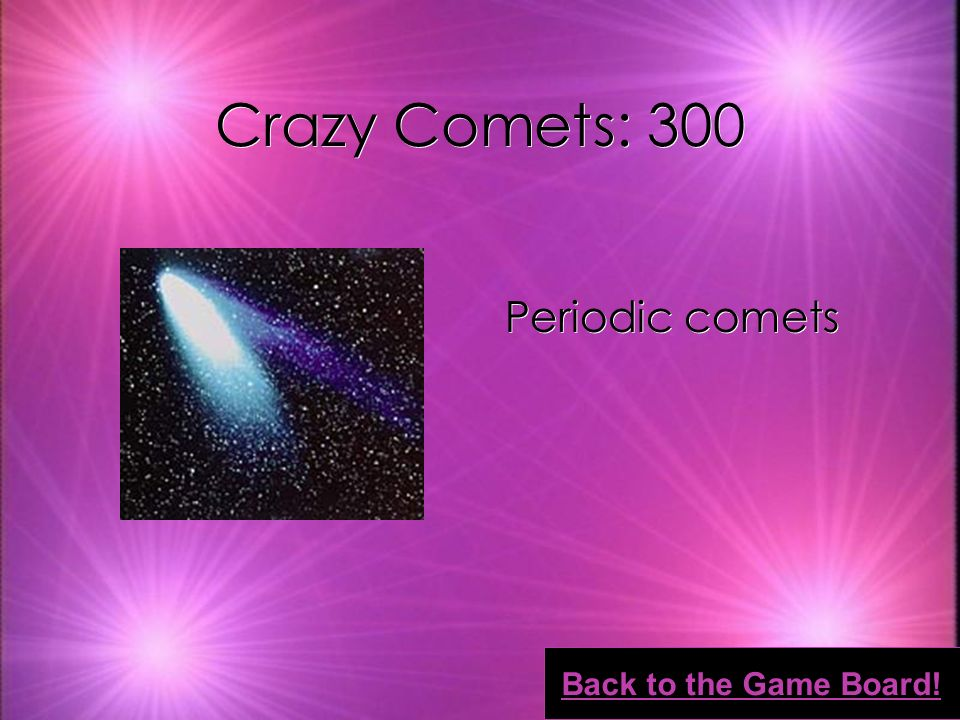 Crazy Comets: 200 Asteroids Back to the Game Board!