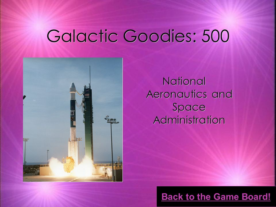 Galactic Goodies: 400 Black hole Back to the Game Board!