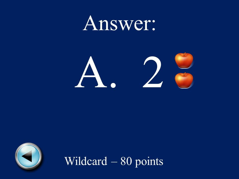 Wildcard – 80 points Anna took of the apples from a box.