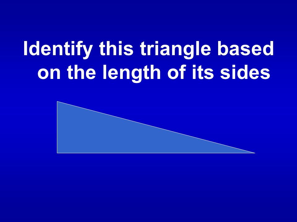 What is a scalene triangle?