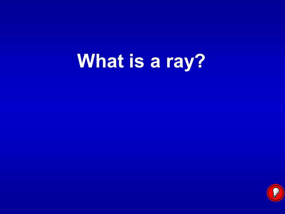 Two rays with a common endpoint