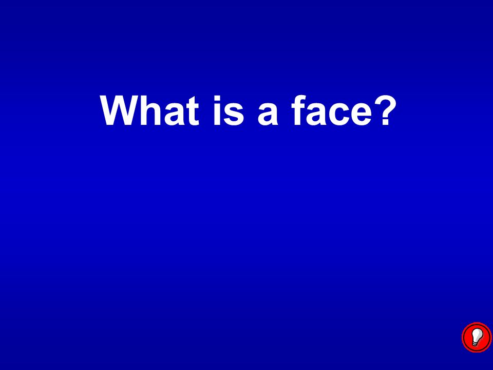 What is a face?