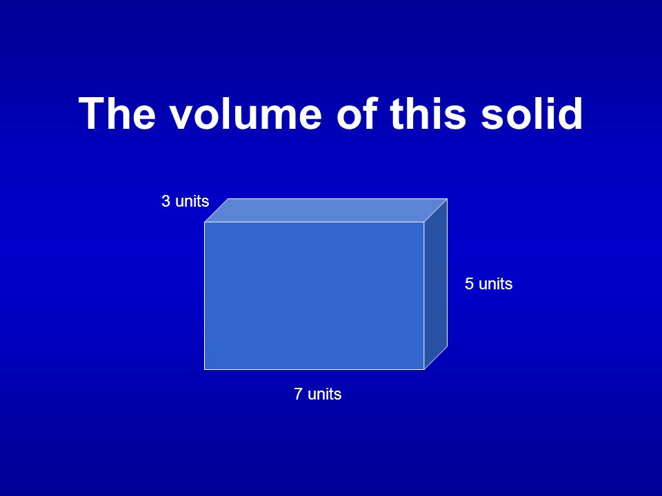 What is 105 cubic units?