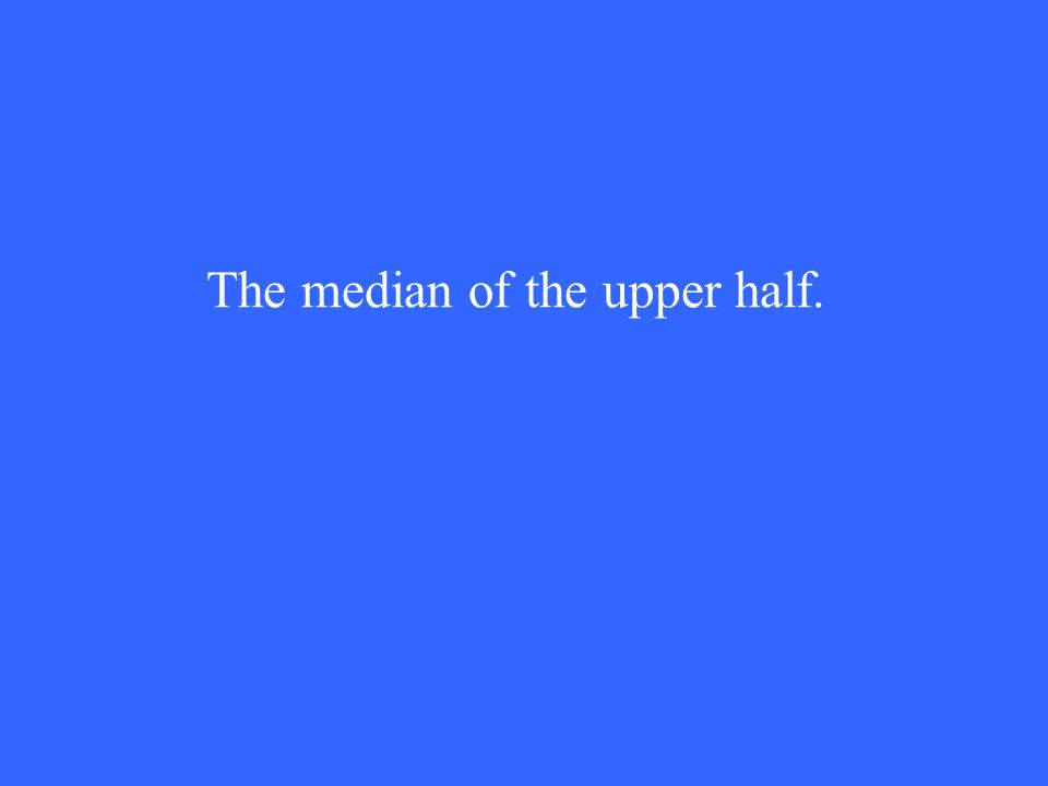 The median of the upper half.