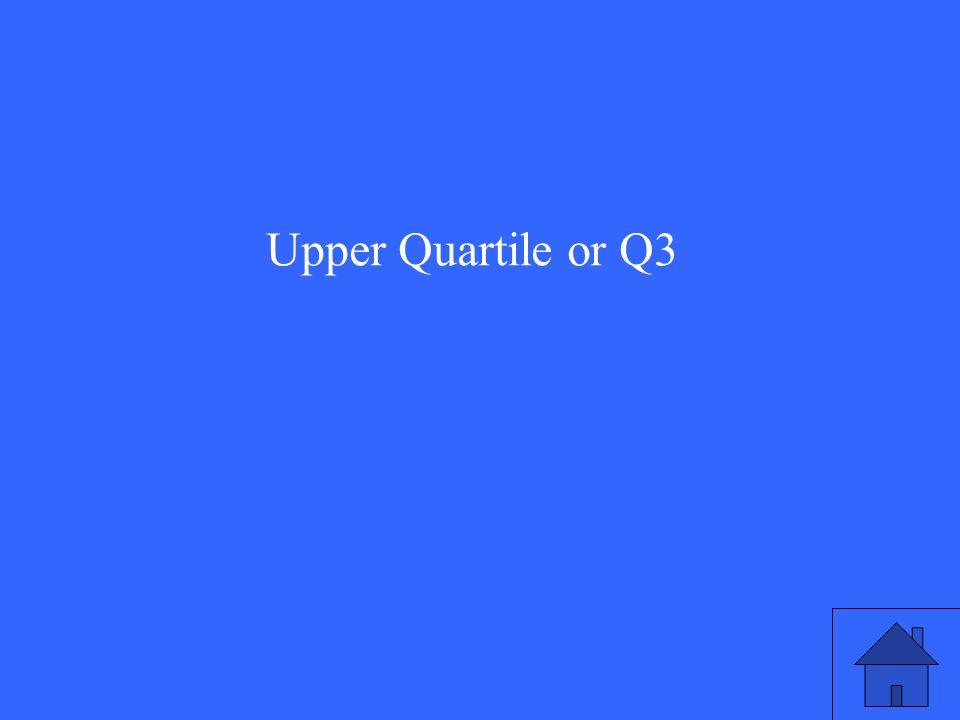 Upper Quartile or Q3