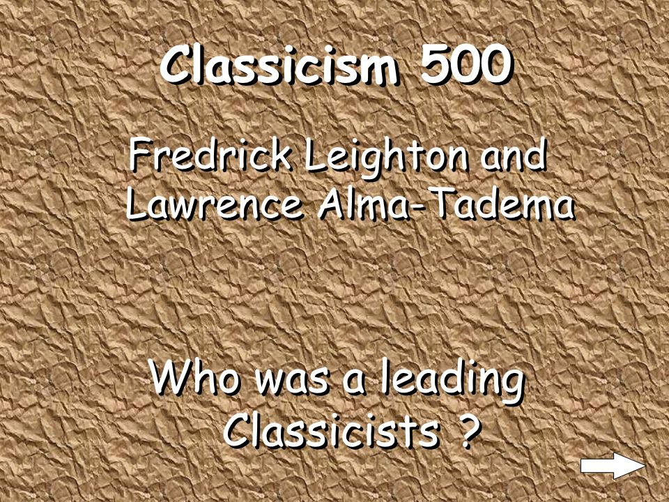 Classicism 400 Academic Standards What standards of painting is Classicism done?
