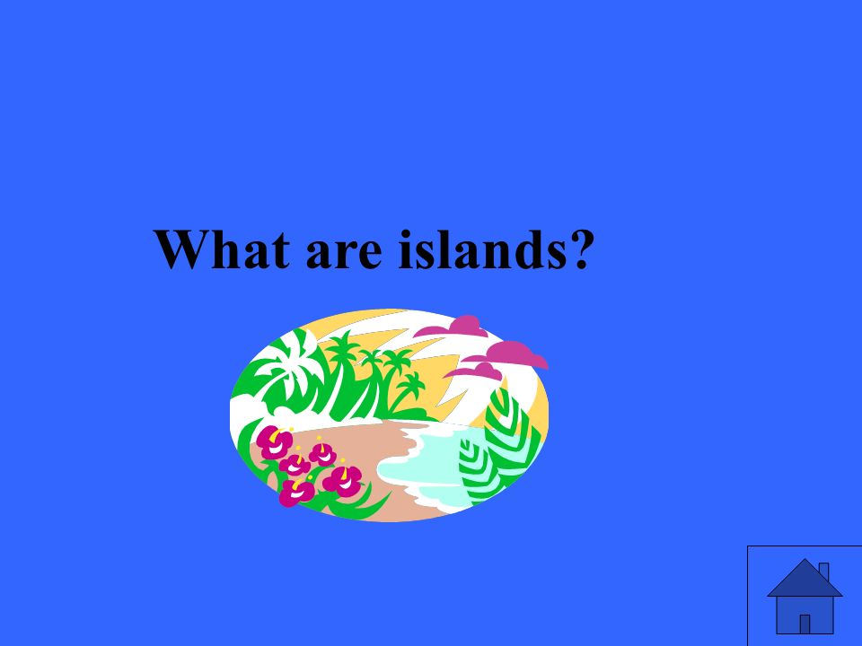 What are islands?